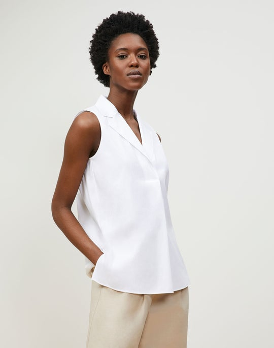 Petite Siona Shirt In Italian Stretch Cotton