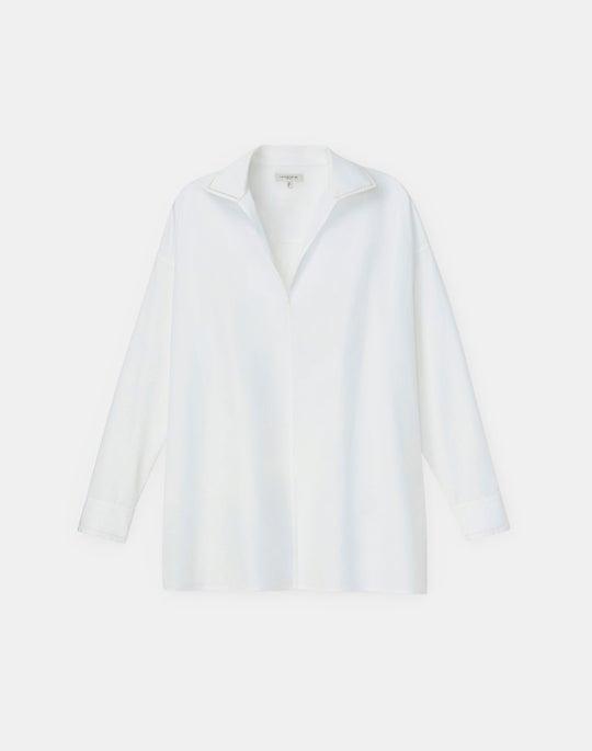 Plus-Size Bristol Shirt In Italian Sculpted Kindcotton