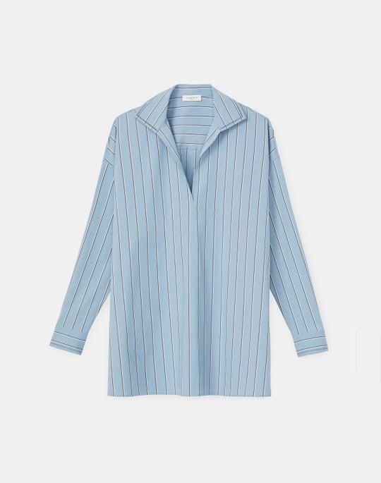 Bristol Shirt In KindCotton Summit Stripe