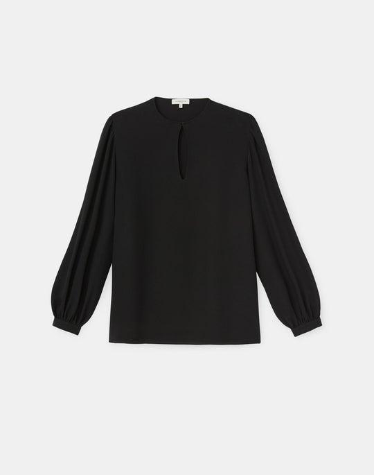 Plus-Size Layton Blouse In Silk Double Georgette