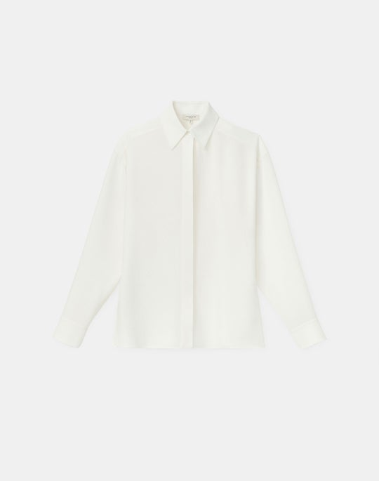 Plus-Size Livia Blouse In Finesse Crepe