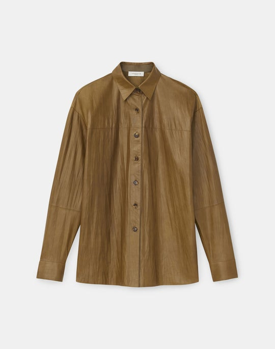 Naomi Shirt In Featherweight Crinkled Nappa