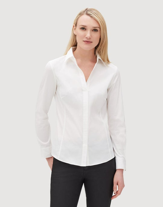 Italian Stretch Cotton Katie Shirt