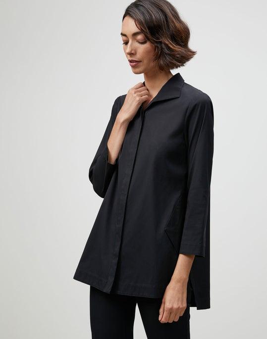 Petite Italian Stretch Cotton Marla Shirt