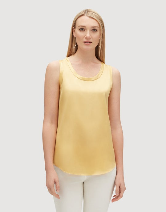 Luxe Charmeuse Reversible Perla Blouse