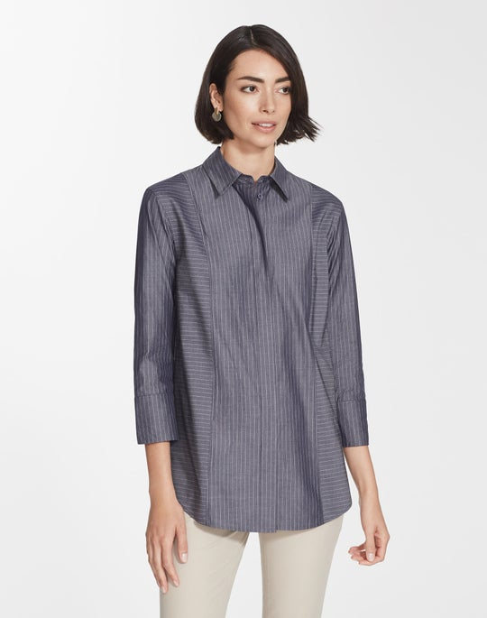 Avalon Stripe Claude Blouse