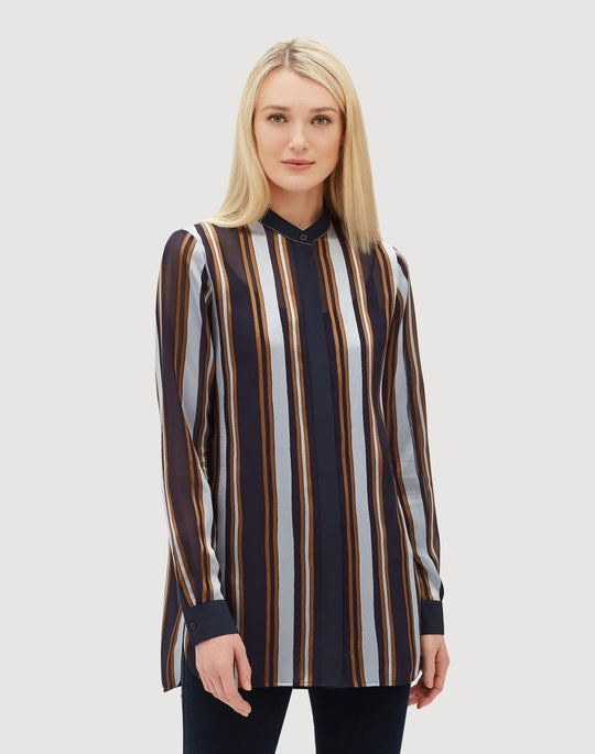 Plus-Size Ethereal Stripe Brayden Shirt
