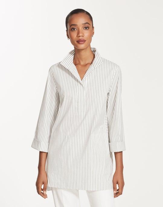 Plus-Size Supreme Stripe Desirae Blouse