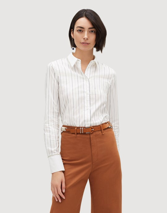 4d1a73f2 Sycamore Stripe Linley Blouse | Lafayette 148 New York