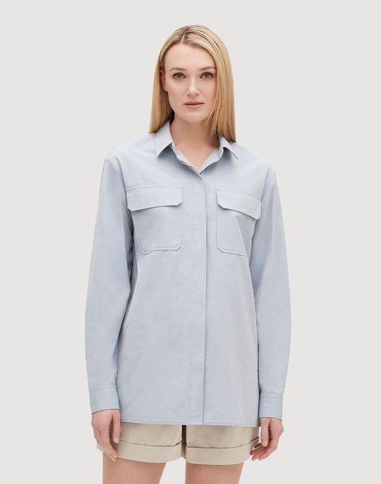 Sueded Cotton Everson Blouse