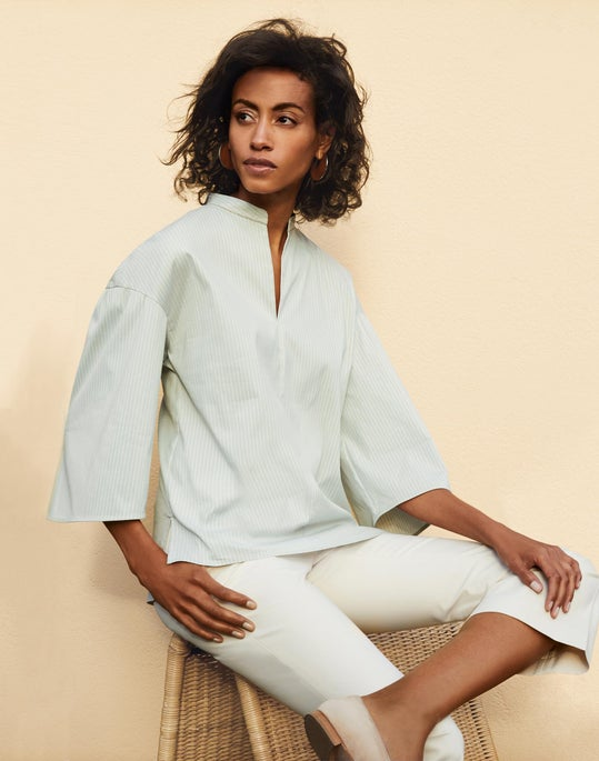 Carla Blouse and Cropped Manhattan Flare Pant