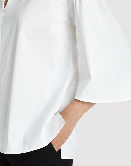 Petite Italian Stretch Cotton Carla Blouse