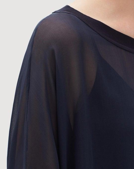 Petite Silk Double Georgette Joplin Blouse