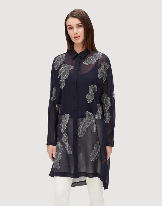 Plus-Size Wider Silk Georgette Kyrie Blouse