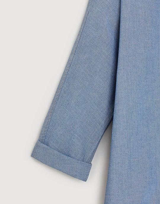 Plus-Size Artisan Chambray Kyrie Boyfriend Shirt