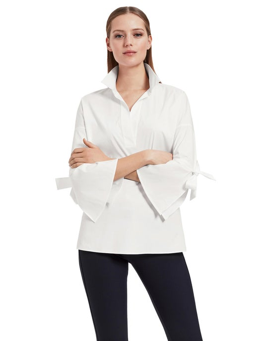 Plus-Size Italian Stretch Cotton Kinsley Shirt