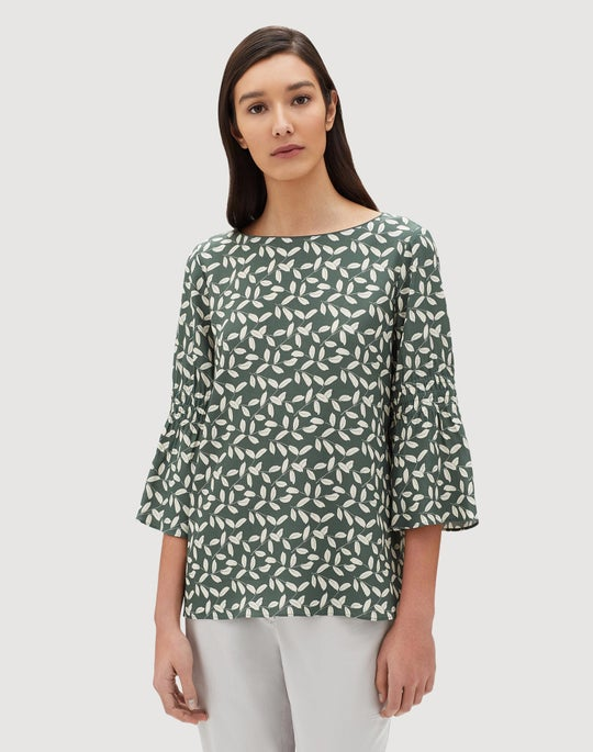 Plus-Size Mini Inspired Laurel Crepe Lorelie Blouse