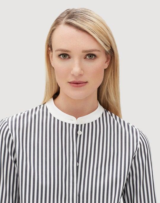 Saxony Stripe Marianne Blouse