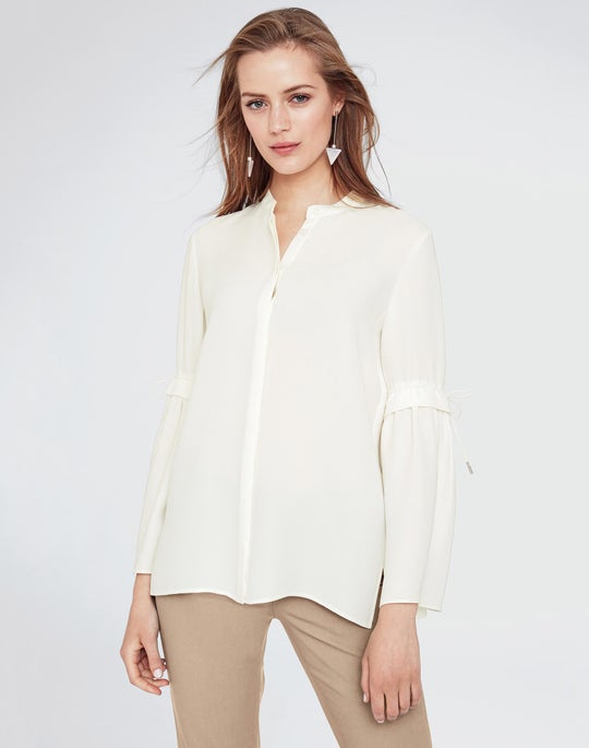 Plus-Size Silk Double Georgette Roanna Blouse