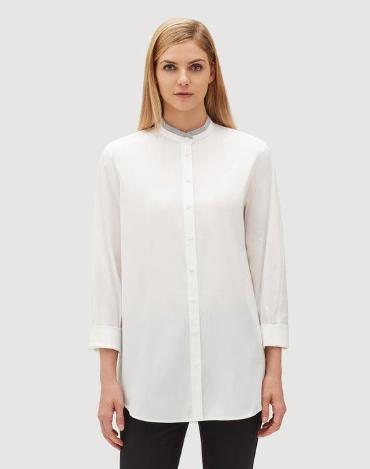 Plus-Size Italian Stretch Cotton Lenno Shirt