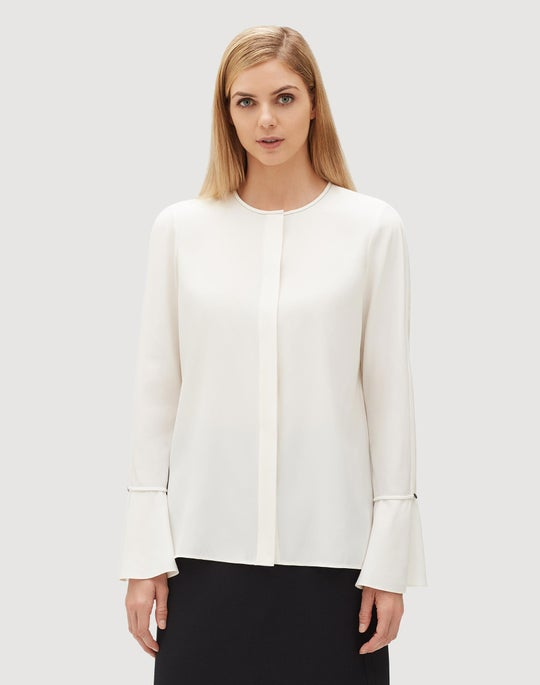 Plus-Size Matte Silk Izzie Blouse