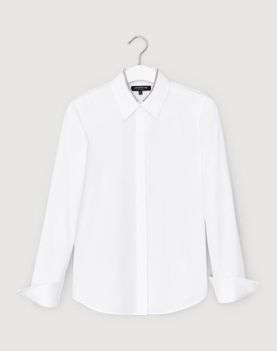 Plus-Size Italian Stretch Cotton Phaedra Shirt