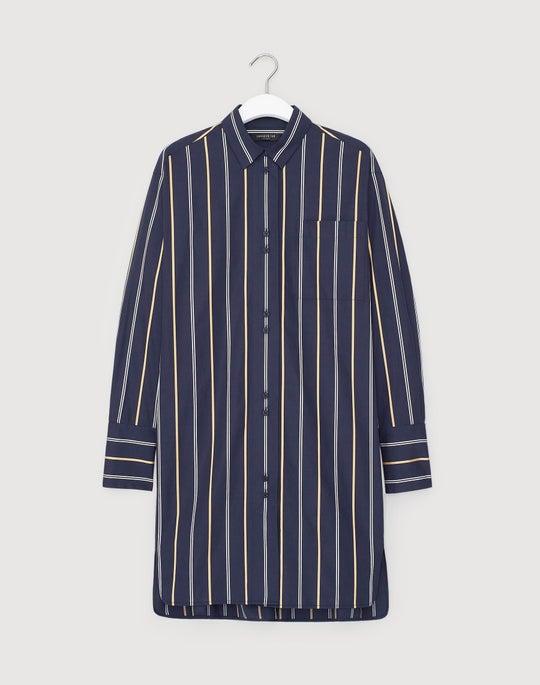 Riverside Stripe Marvin Oversized Boyfriend Shirt