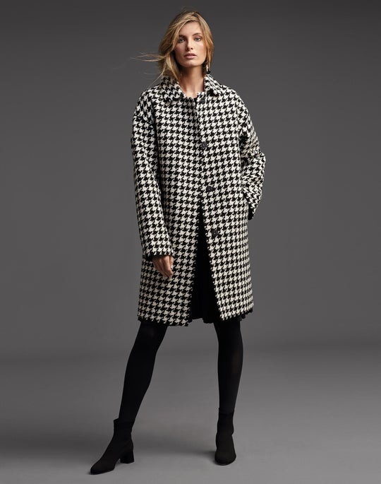 Vita Coat and Structured Rib Knit Dress