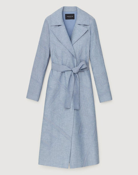 Artisan Chambray Rayna Trench Coat