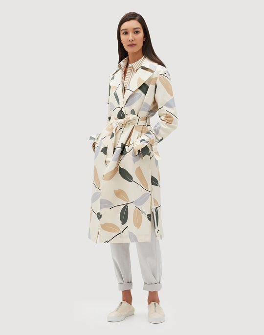 Plus-Size Inspired Laurel Cotton Rayna Trench Coat