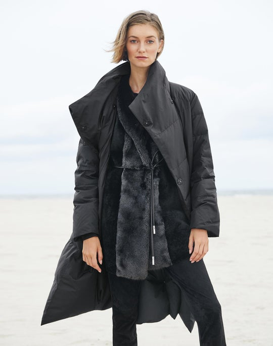 Reversible Johanson Down Coat and Suede Front Mercer Pant