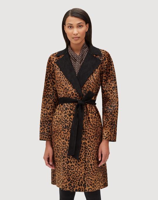 Leopard Calf Hair Kalena Trench Coat