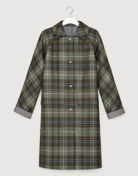 Pastoral Tartan Reversible Maryann Coat