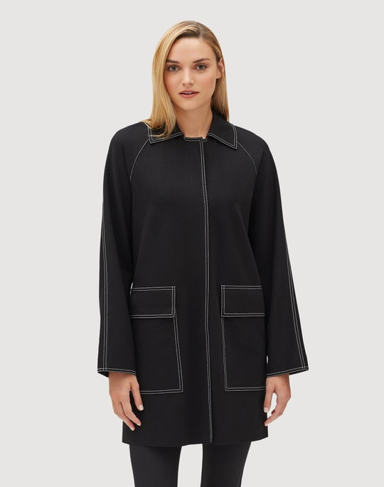 Plus-Size Punto Milano Maryann Car Coat