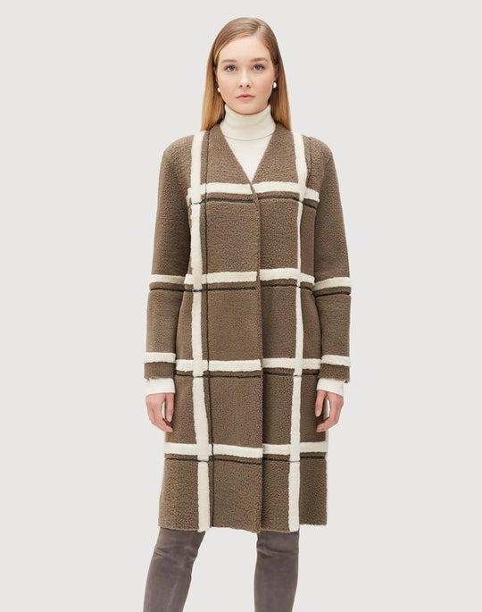 Curly Merino Shearling Carmindy Coat