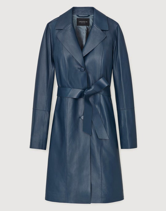 Plus-Size Plonge Lambskin Rocco Trench Coat