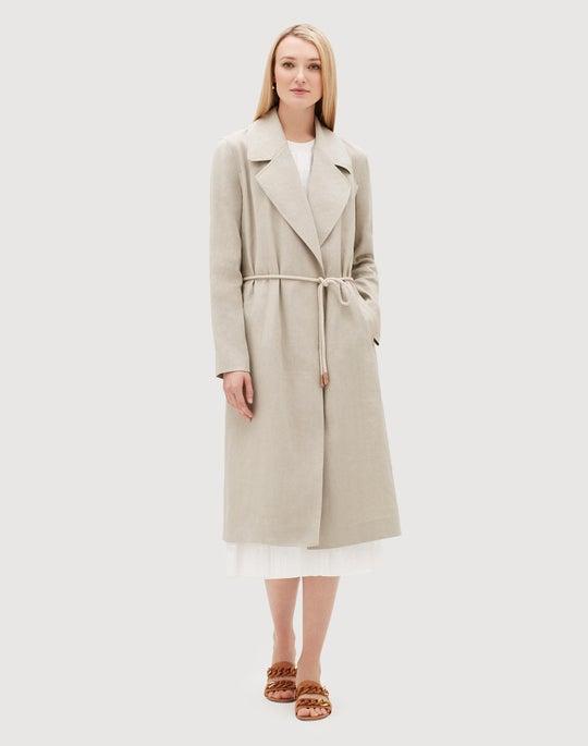 Plus-Size Canvas Cloth Zelida Trench Coat