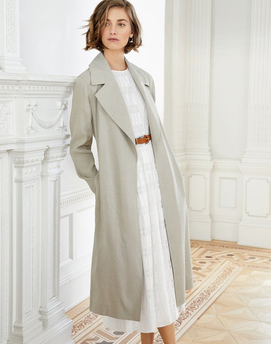 Zelida Trench Coat and Avalynn Dress