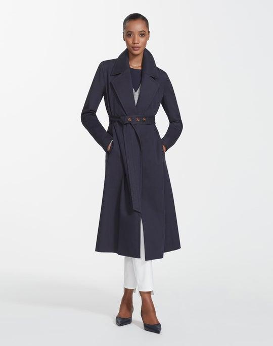 Plus-Size Italian Gabardine Zelida Coat