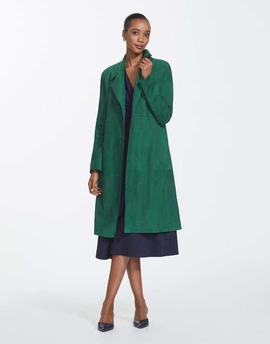 Silken Suede Zelida Coat