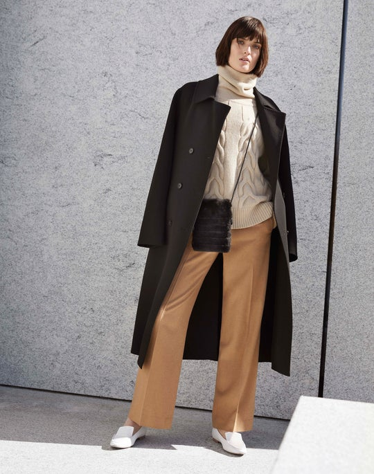 Marjorie Trench Coat and Camel Winthrop Pant