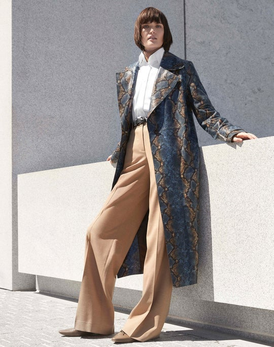 Hand-Painted Michael Trench Coat and Dalton Wide-Leg Pant