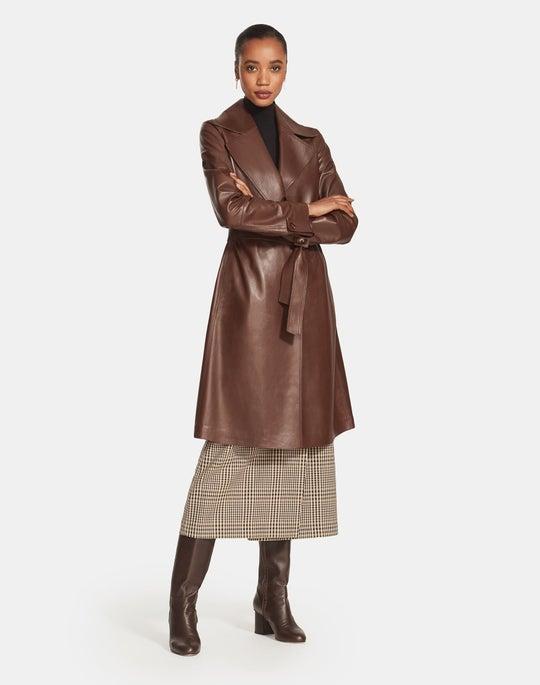 Plonge Lambskin Michael Trench Coat