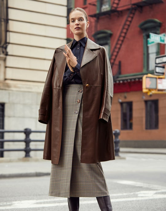 Michael Trench Coat and Leyla Skirt
