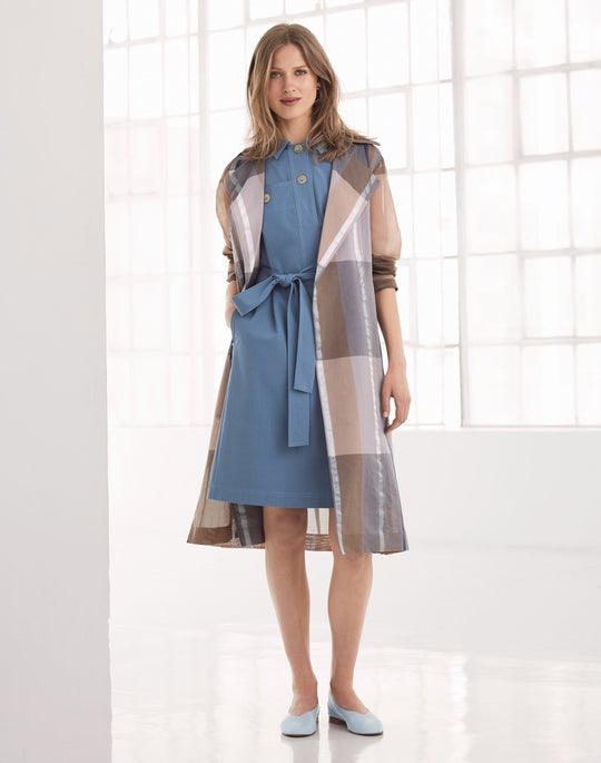 Evangelina Trench Coat and Padma Shirtdress