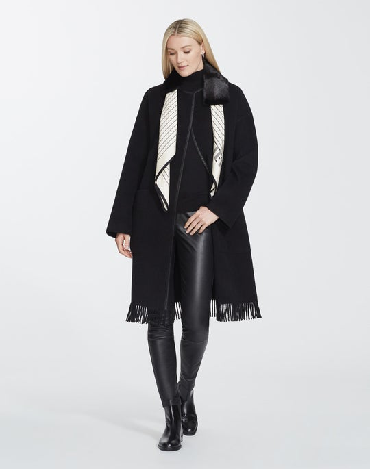 Plus-Size Luxe Cashmere Barnett Coat