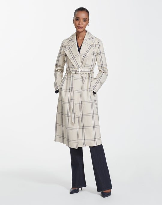 Lattice Plaid Sicily Coat