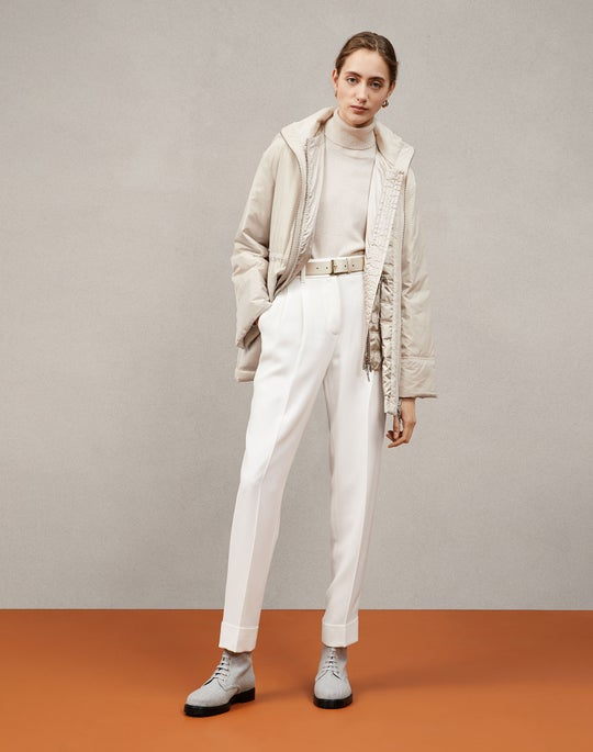 Calvin Coat and Ellis Pleated Pant
