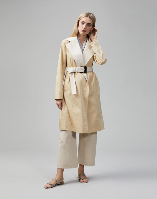 Plus-Size Eclipse Outerwear Reversible Rosemont Trench Coat