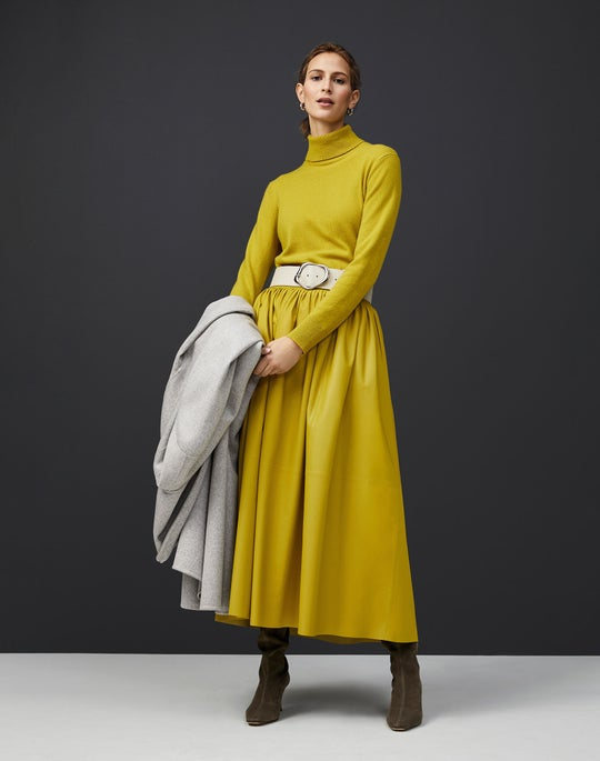 Turtleneck Sweater and Lyons Skirt